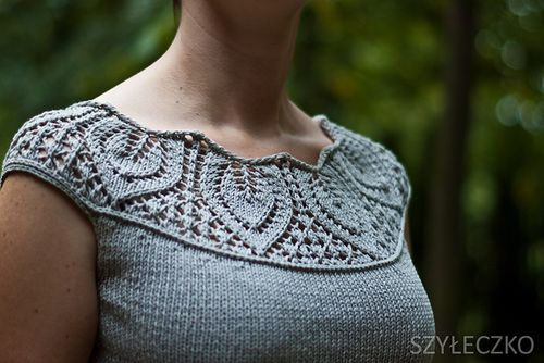 Leaf Yoke Top by Angela Hahn