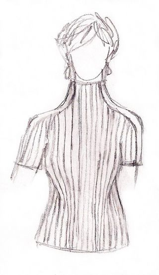 Spalle pullover sketch