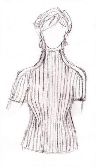 Spalle pullover sketch