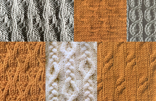 Cable swatches multi