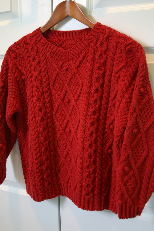 Finished!: Cotton Aran Sweater